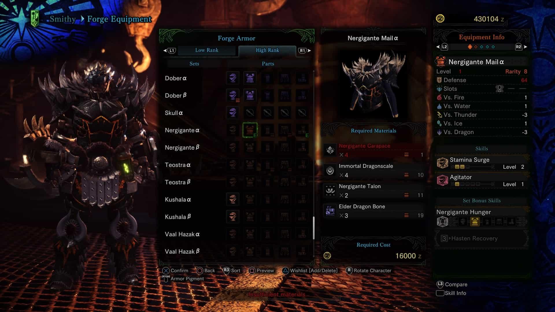 MHW Sword & Shield - Build Nergi Chest