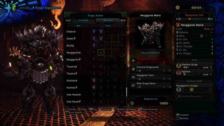 MHW Sword & Shield - Build Nergi Chest