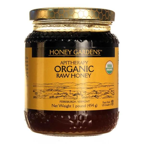 Honey Gardens Organic Raw Honey 1 lb eVitamins Canada