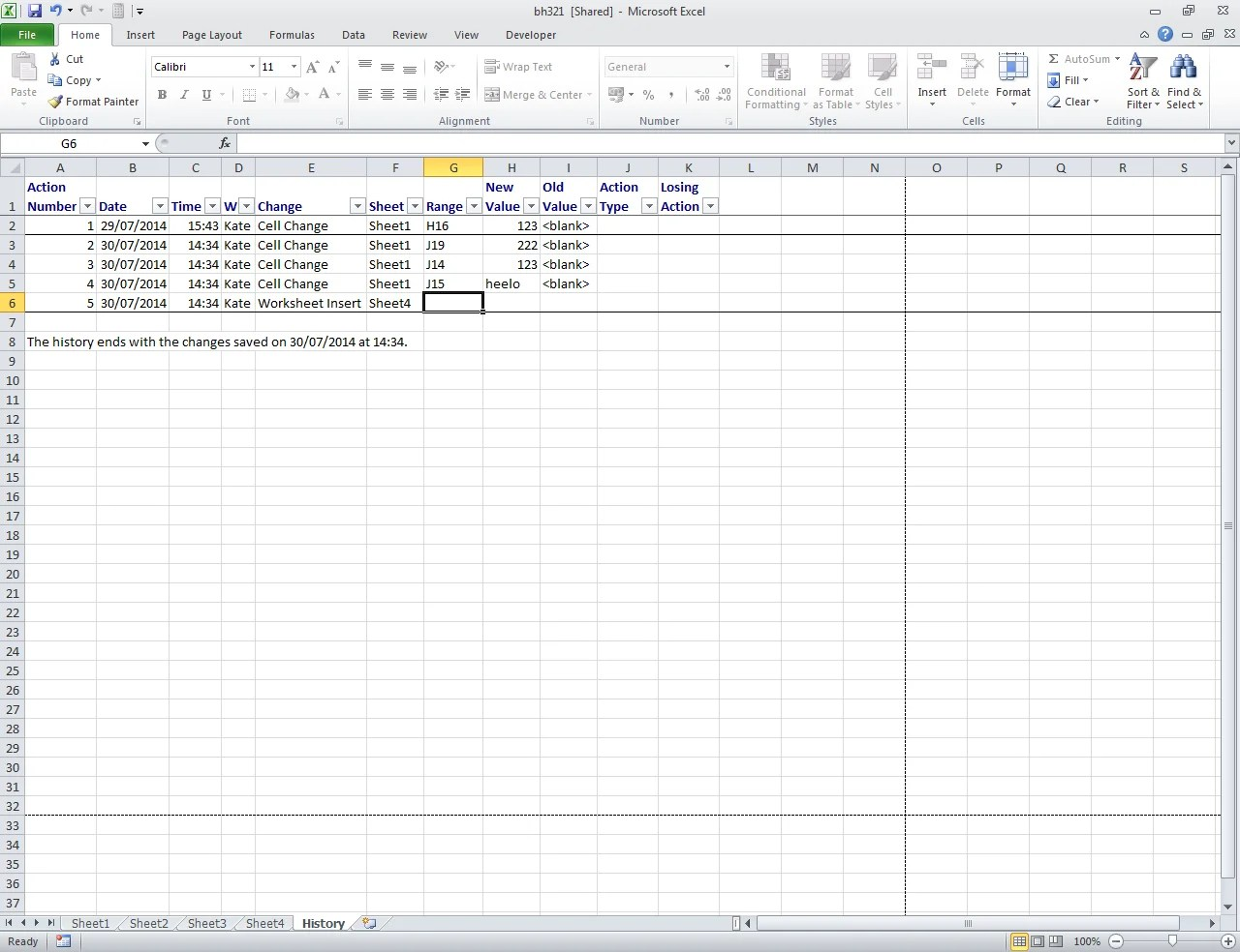 How Do I Track Changes In Excel