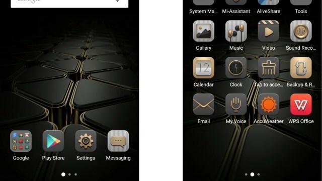 ZTE Axon Elite UI screenshot