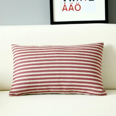 30x50 Cm Throw Pillows Ikea Red Striped Print Decorative Lumbar Cushions
