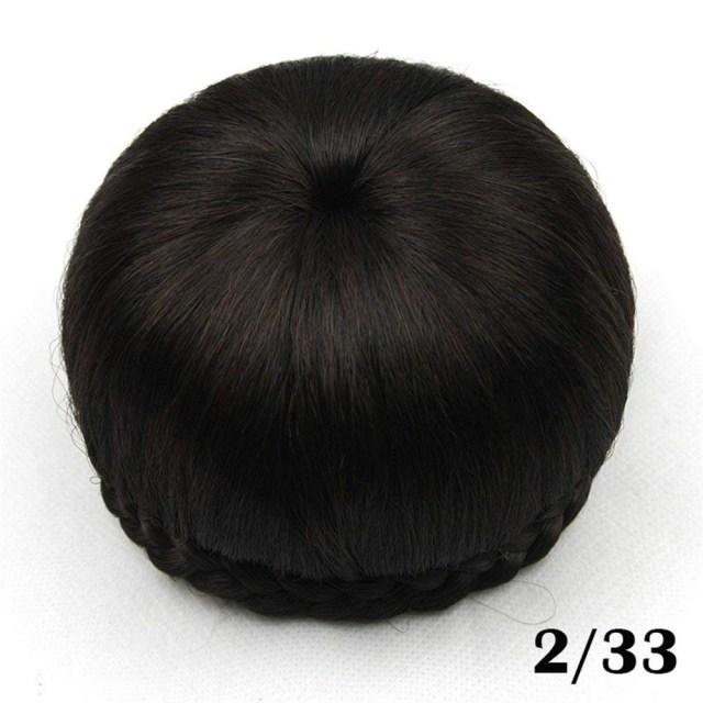 s-ssoy bridal hair pieces bun, braided chignon scrunchy