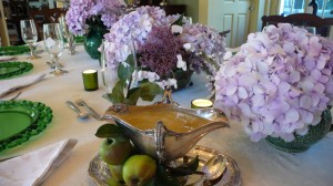 Slim Paley table setting
