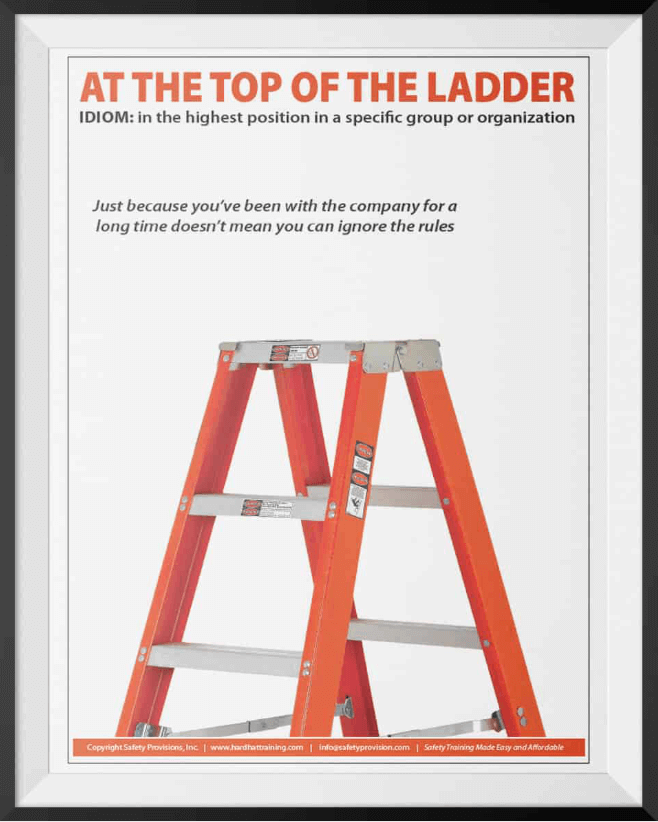 ladder safety top of the ladder