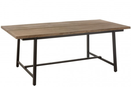 table a manger rectangulaire en bois et metal l200 natura