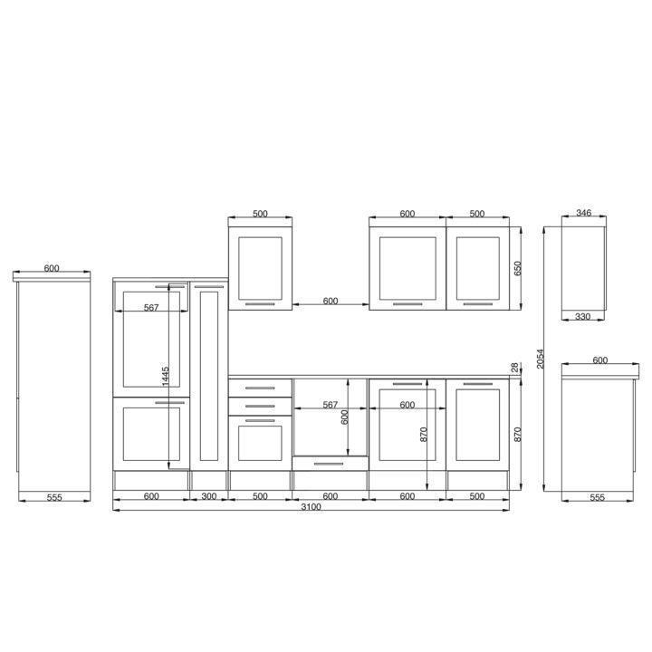 Küchenzeile MELIANA (11-teilig) von RIDGEVALLEY