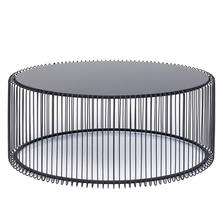 Couchtisch WIRE III - Glas / Stahl
