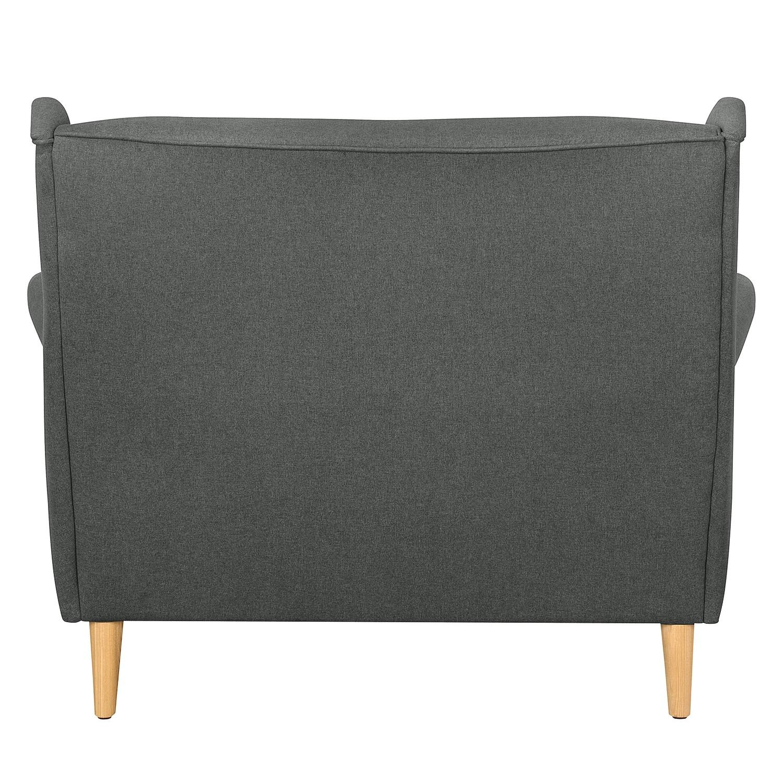 Sofa PIHA (2-Sitzer) Webstoff - Dunkelgrau