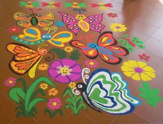 Diwali Competition Rangoli Design for Kids