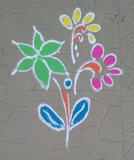 Kids Rangoli Designs Simple