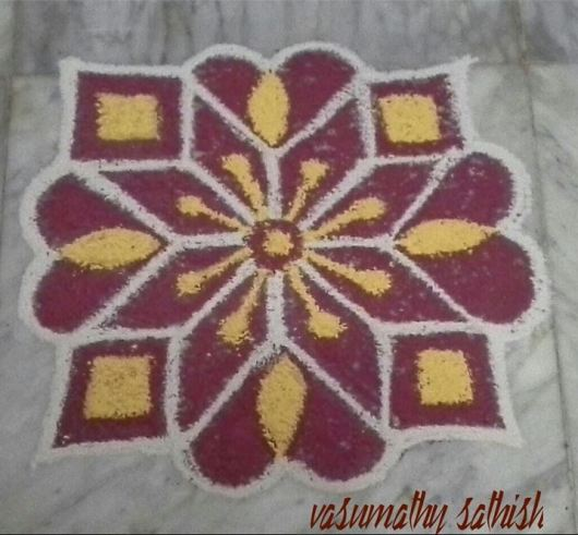 Small Rangoli Designs with Dots