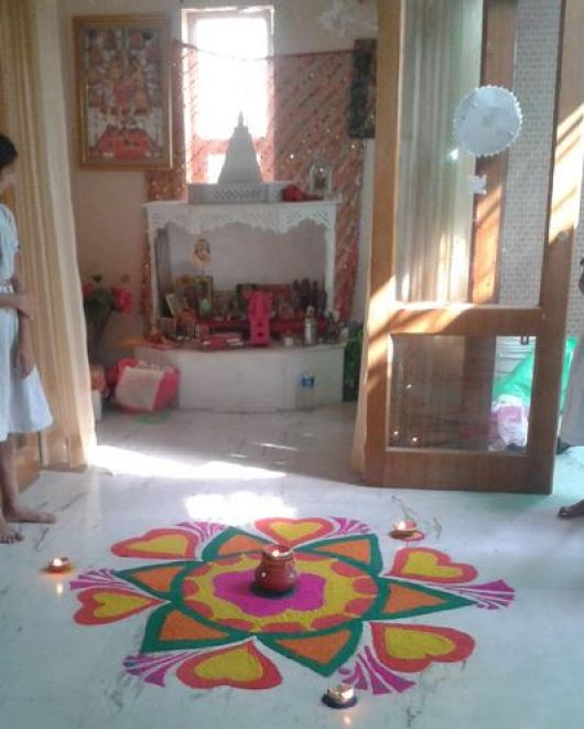 Traditional Pooja Room Designs in Hall