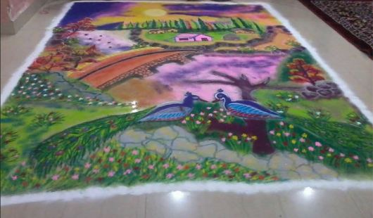 Scenic Competition Rangoli Designs with Themes