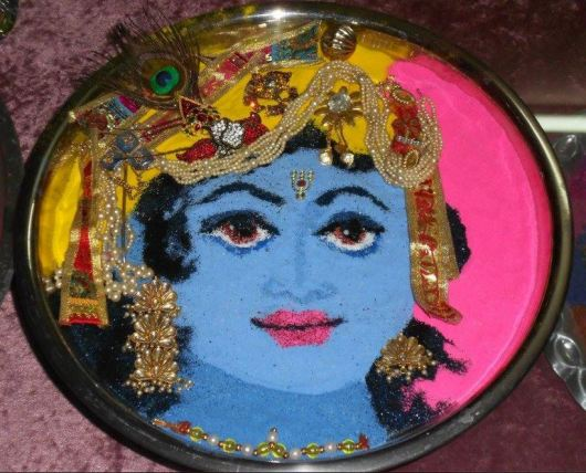 Rangoli Designs of God Krishna