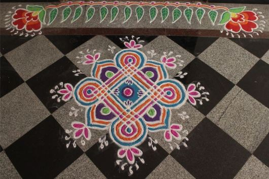 Beautiful Border Rangoli Designs