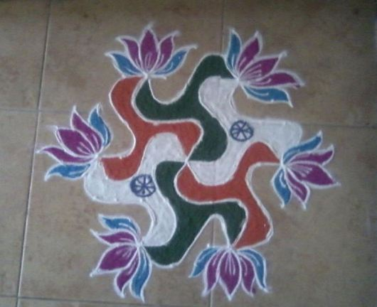 Kolam Designs for Independence Day and Republic Day
