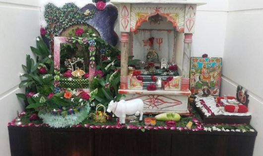 Pooja Room Decoration for Janmashtami