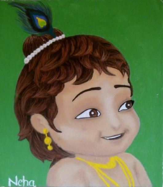 Janmashtami Decoration Ideas - Rangoli Designs