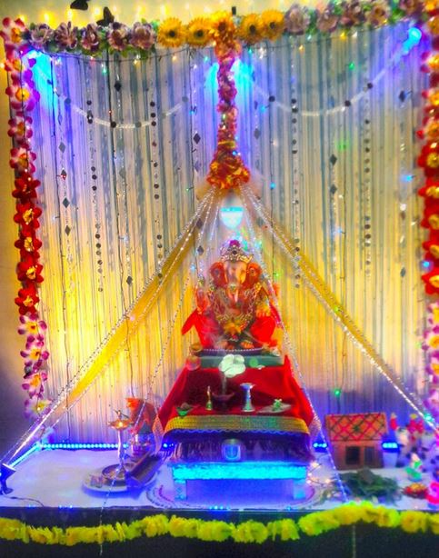 Decoration Ideas For Ganpati Festival At Home
