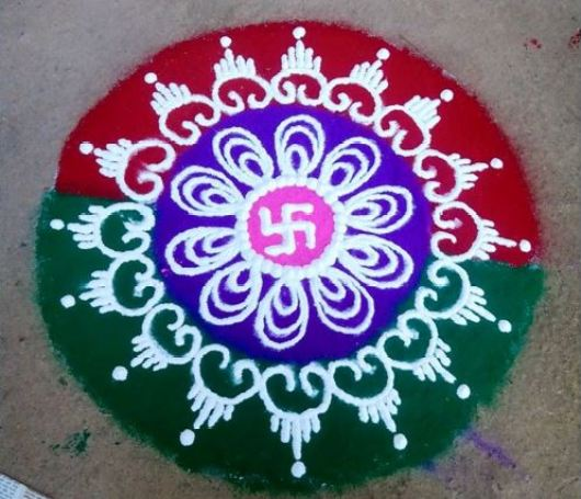 Simple Rangoli Designs for Holi