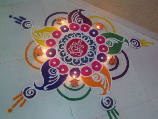 Free Hand Rangoli Designs without Dots