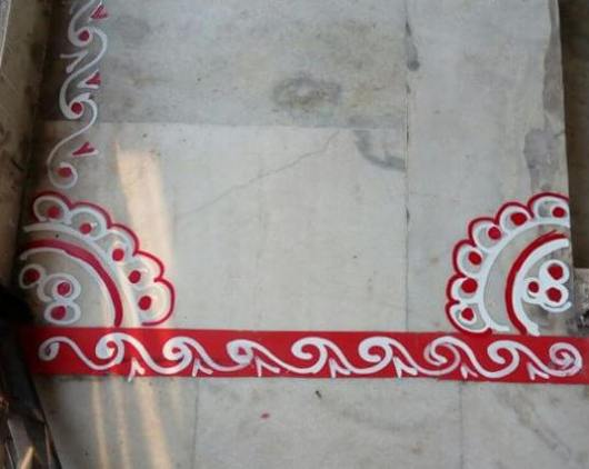 Border Rangoli Designs for Doors