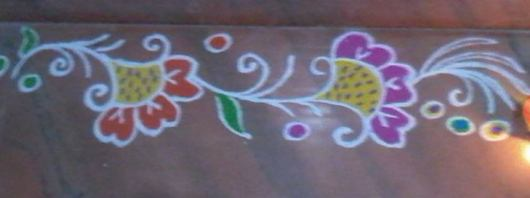 Simple Border Rangoli Designs