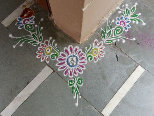 Easy Border Rangoli Designs for Diwali