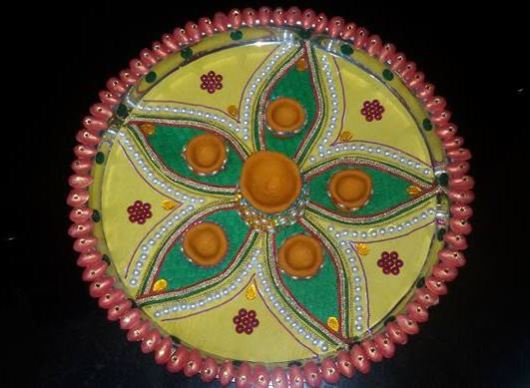 Easy Aarti Thali Decoration