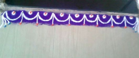 Simple Free Hand Border Rangoli Designs