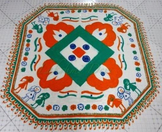 Rangoli Designs for Republic Day