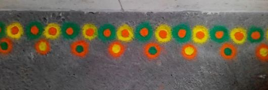 Easy Free Hand Border Rangoli Designs for Kids