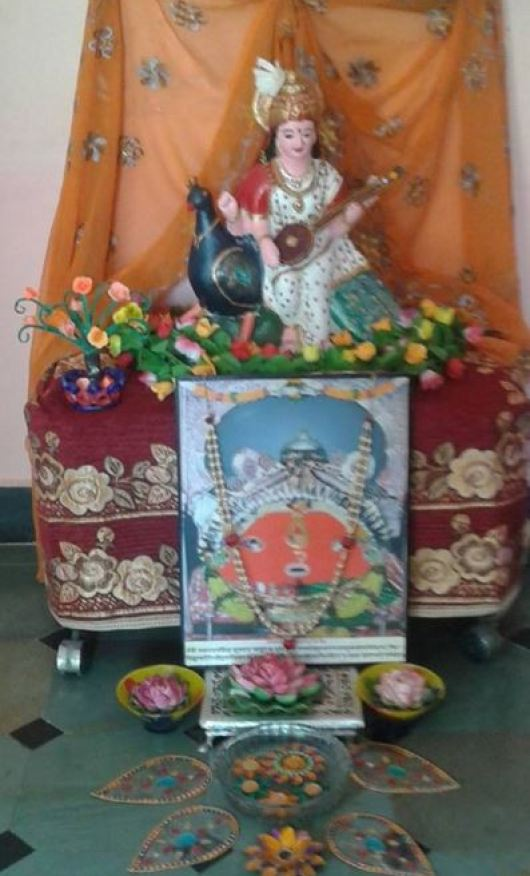 Saraswati Puja Decoration