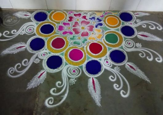 Colorful Rangoli Designs without Dots