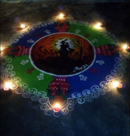 Festival Rangoli Designs without Dots