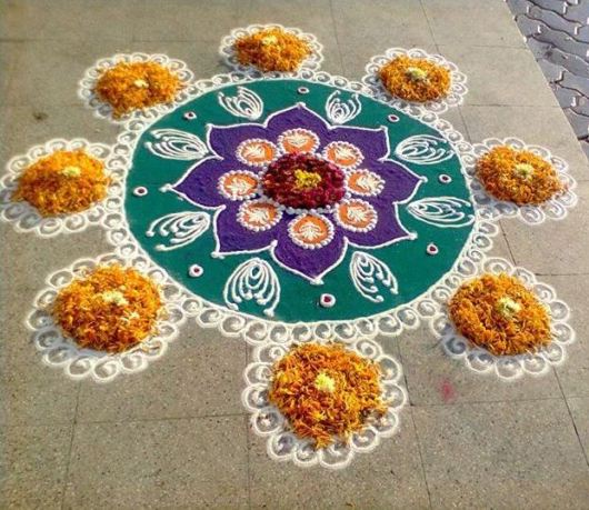 Rangoli Designs without Dots for Ugadi