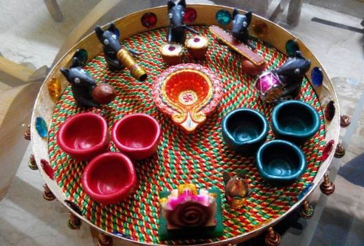 Aarti Thali Decoration Ideas for Ganpati