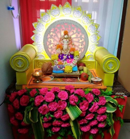 Homemade Ganpati Decoration Ideas