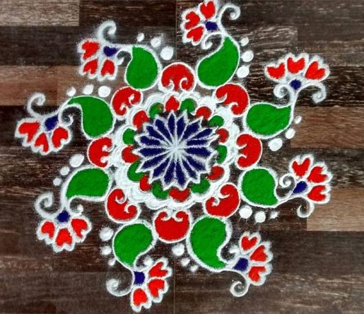 Republic Day Kolam Designs