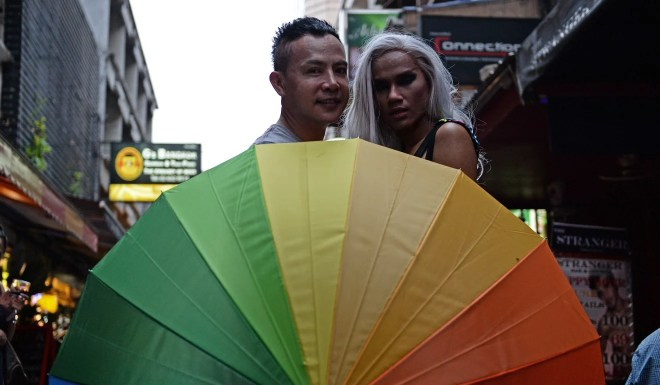 Members of the LGBTI community in Bangkok. Photo: AFP