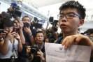 Image result for Activist Joshua Wong arrives back in Hong Kong