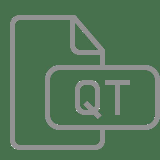 Document, file, qt icon