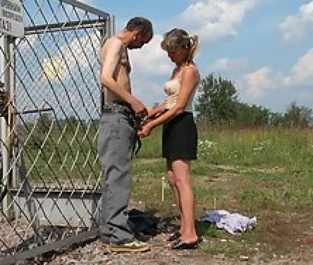 Sex Lusting Blonde Strips For A Lonely Hobo
