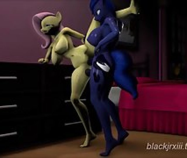 Animated D Yellow Colored My Little Pony Character Received Sex From Behind