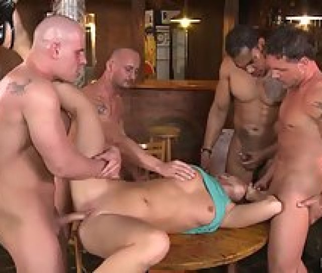 Blonde With Naked Figure Enjoys Gangbang Hammered In Group