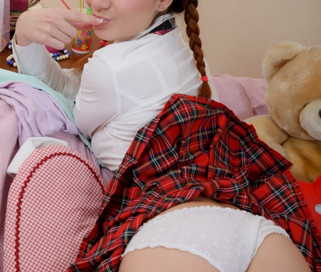 Pigtail Sexy Blonde Teen School Girl Fingered And Squeezed Hard