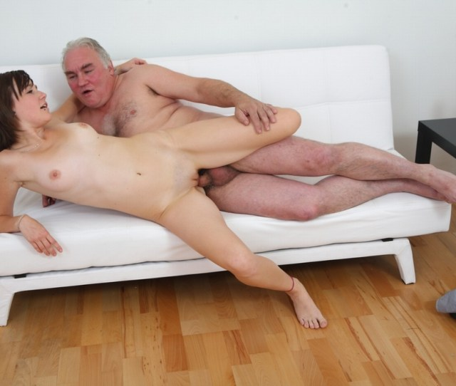 Teen Chick Roughly Fucked By Old Man In Front Her Dude