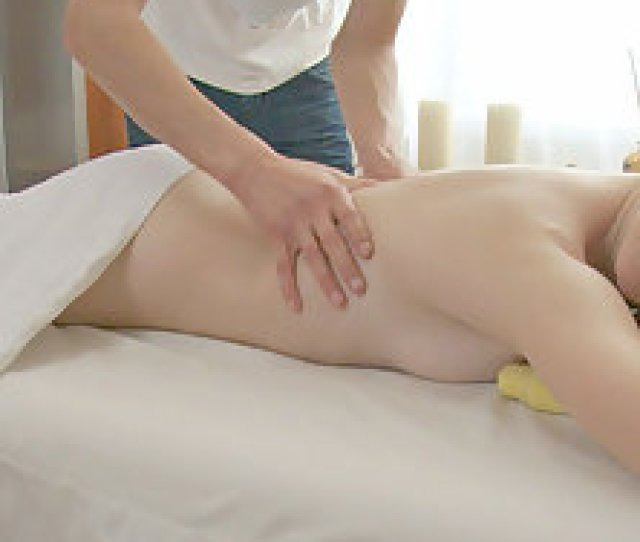 Hot Teen Babe Fucked Inside Her Shaved Pussy After Oil Massage In Parlor