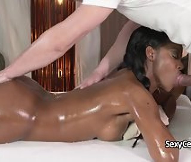 Young Ebony Chick Receives A Massage And A Big Dock To Her Pussy